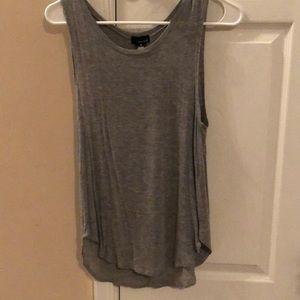 Grey, sleeveless shirt